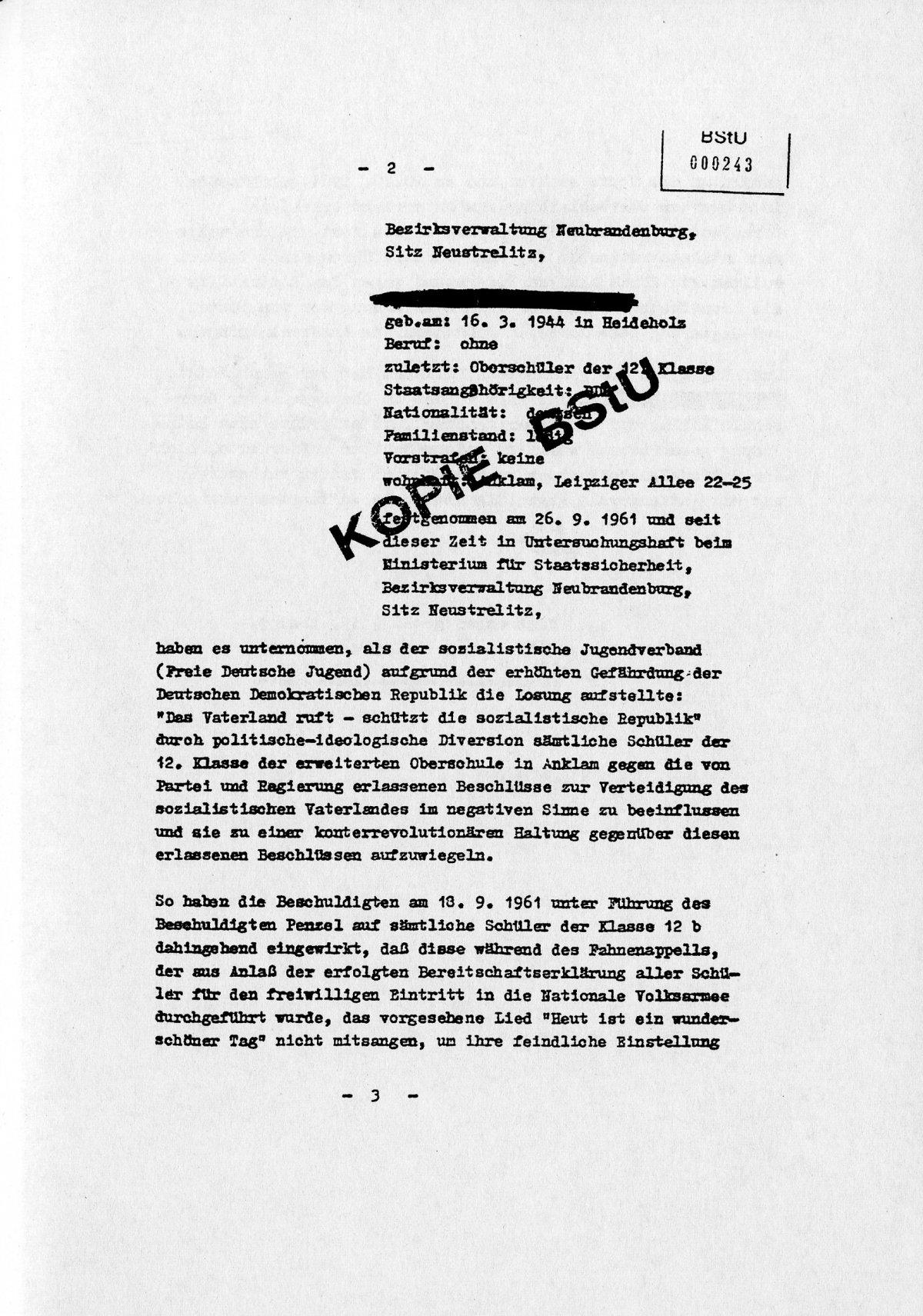 Jugendliche in Anklam | Jugendopposition in der DDR
