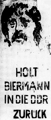 Protestplakat in Ost-Berlin, 1976. Quelle: BStU, MfS, HA XX/9 1269